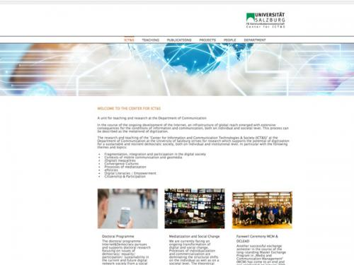 Center for ICT&S / Webdesign