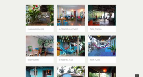 Bocas Cabañas / Webdesign