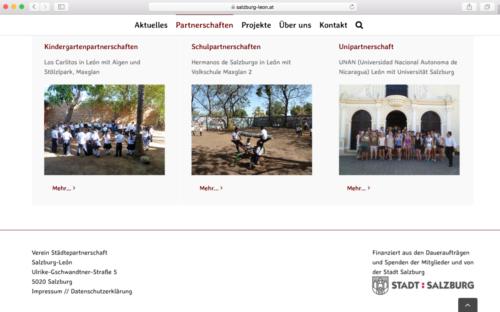 Städtepartnerschaft Salzburg-León / Webdesign