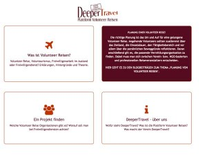 DeeperTravel / Corporate Design, Web, Content, Logo